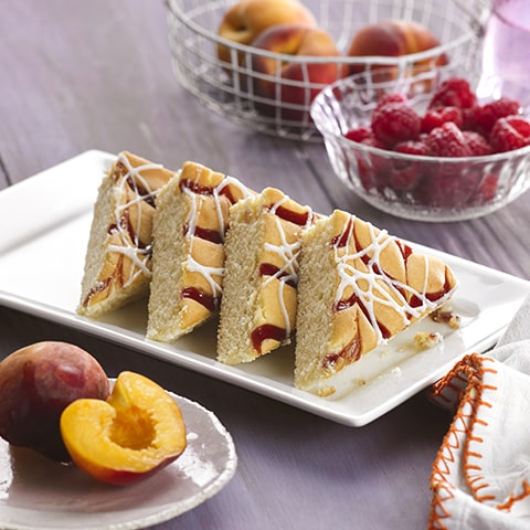 Peach Melba Slice