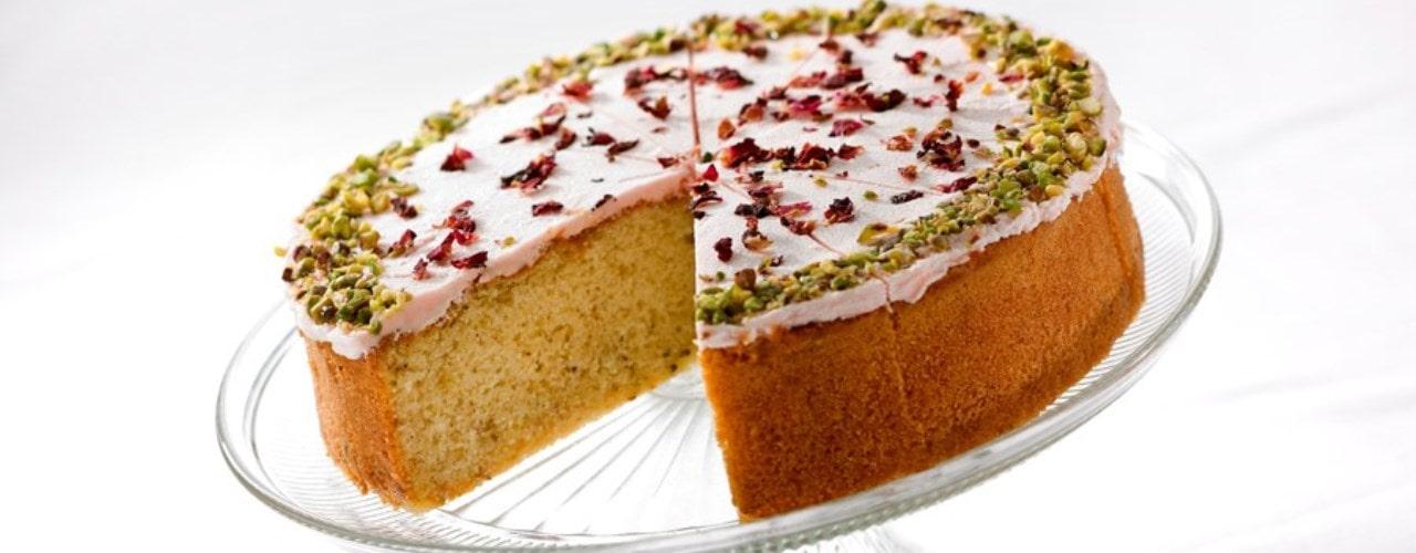 Pistachio and Rose Cake