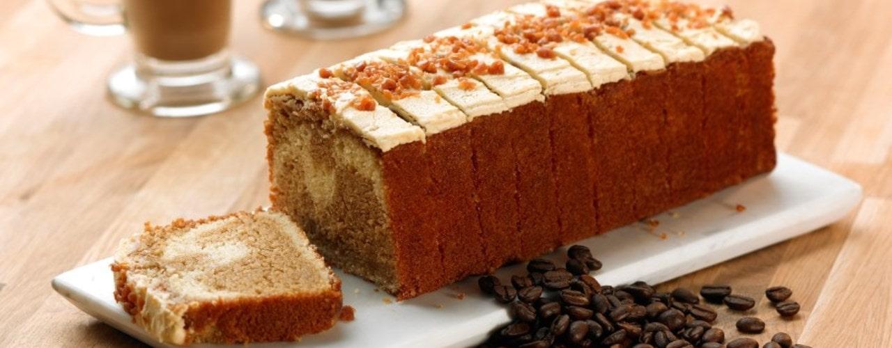 Salted Caramel Latte Loaf Cake