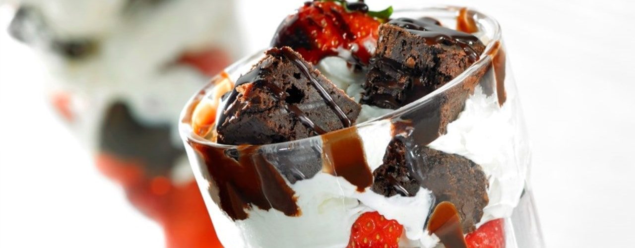 Strawberries and Cream and Brownies
